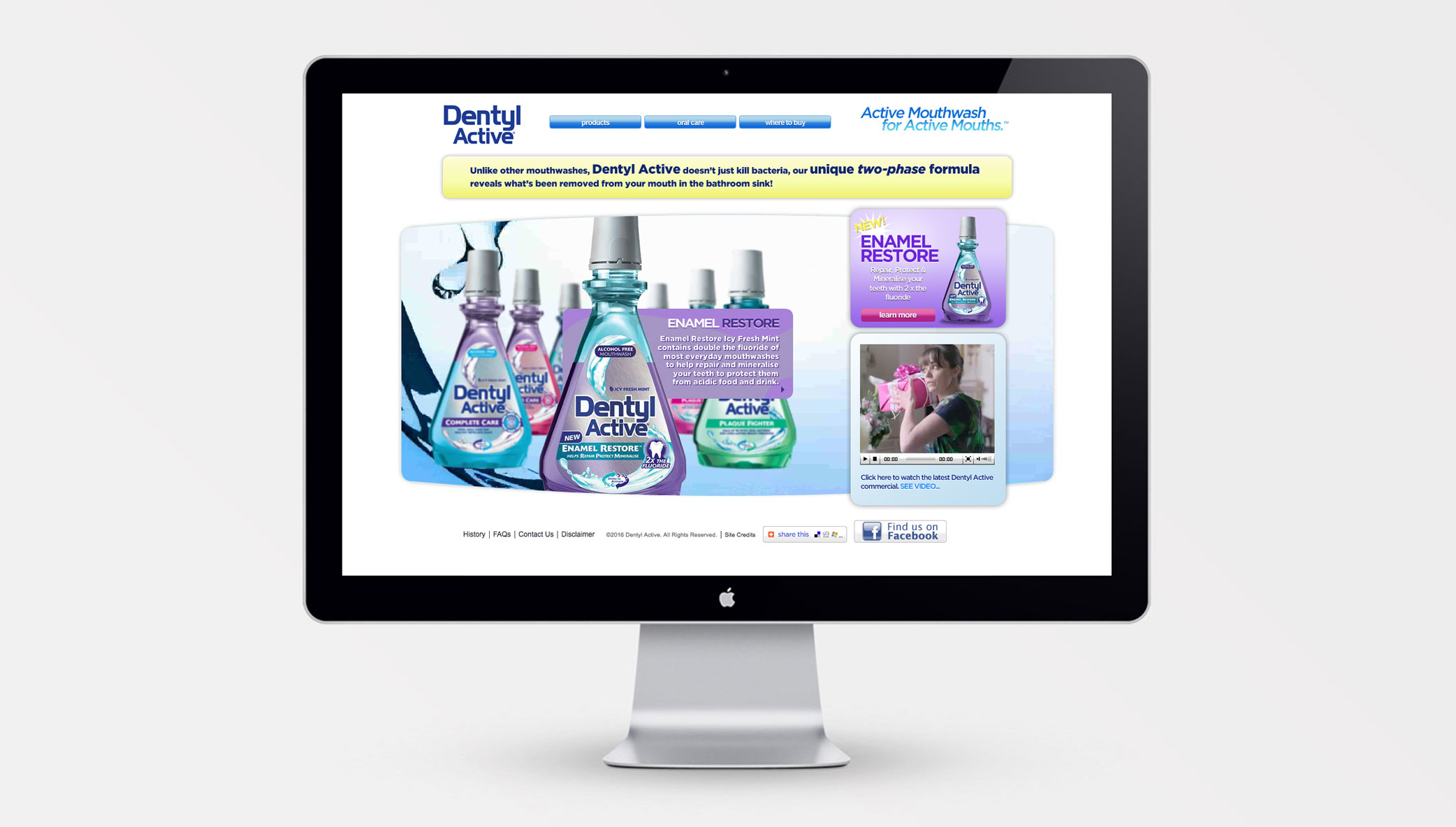 Stone launches the Dentyl pH website