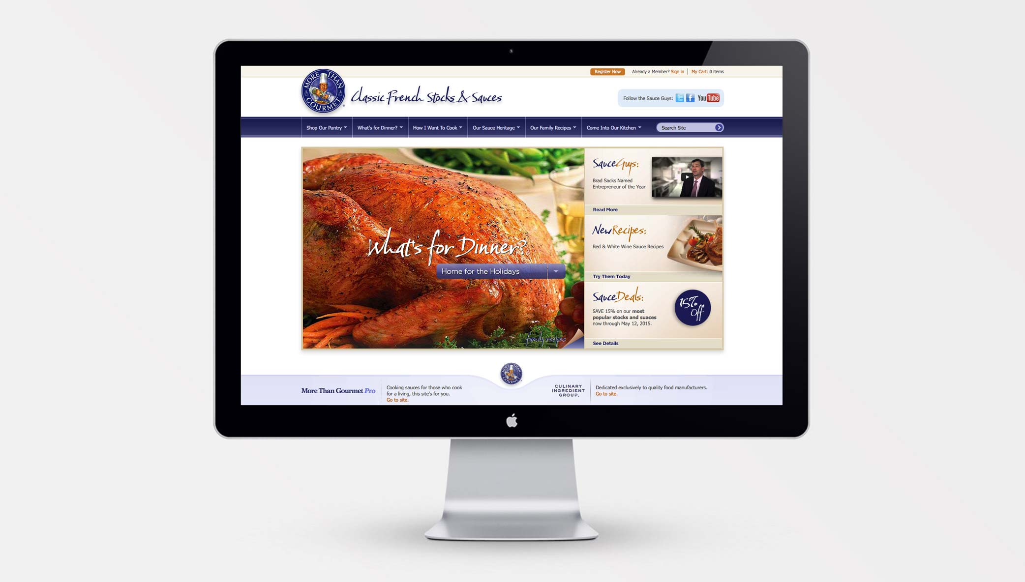 Stone Launches A New Version of <em>More Than Gourmet</em> Website