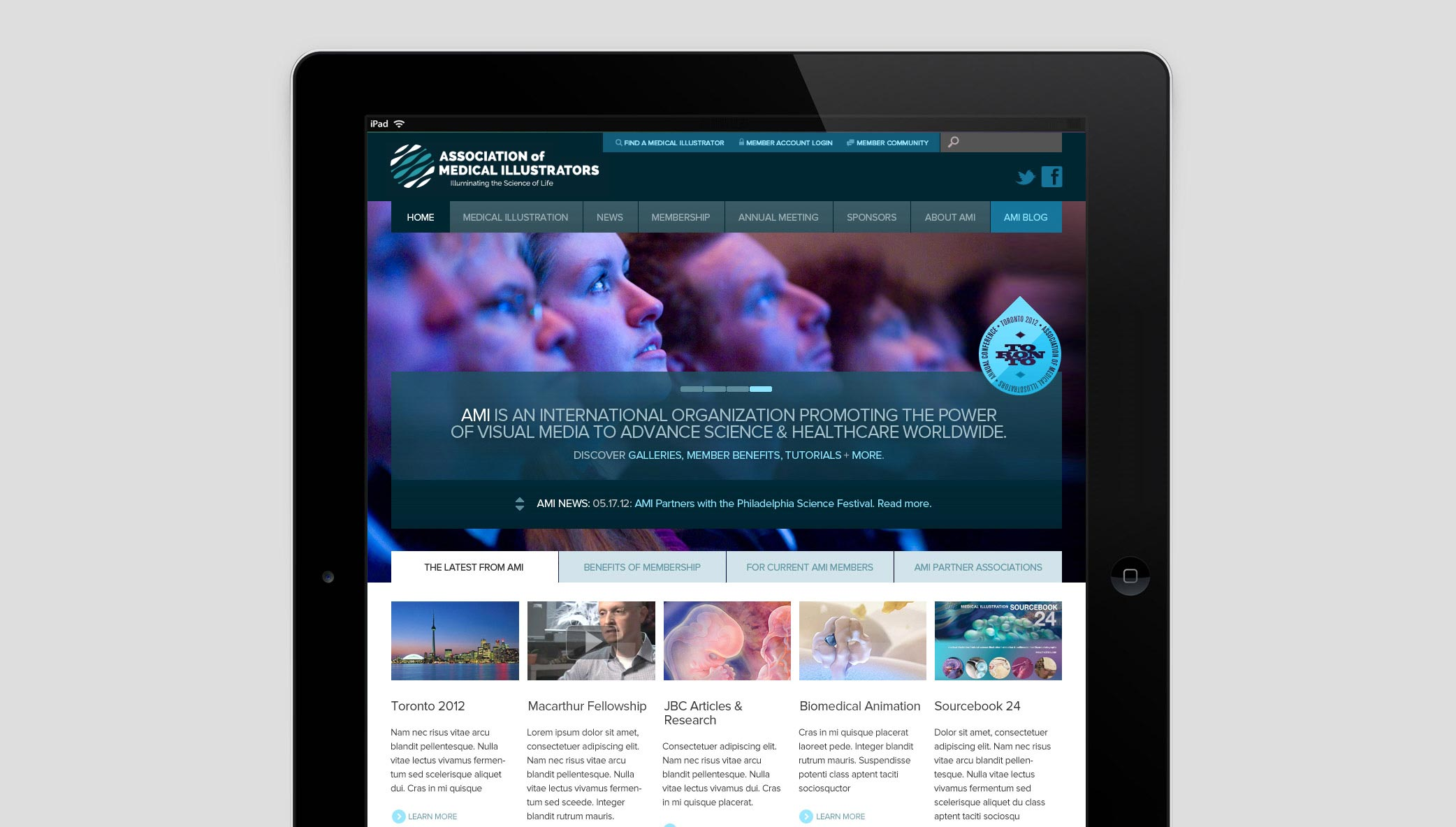 Stone Announces the Launch of the Association of Medical Illustrators New Website…
