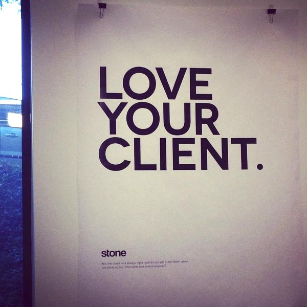 Love your client poster