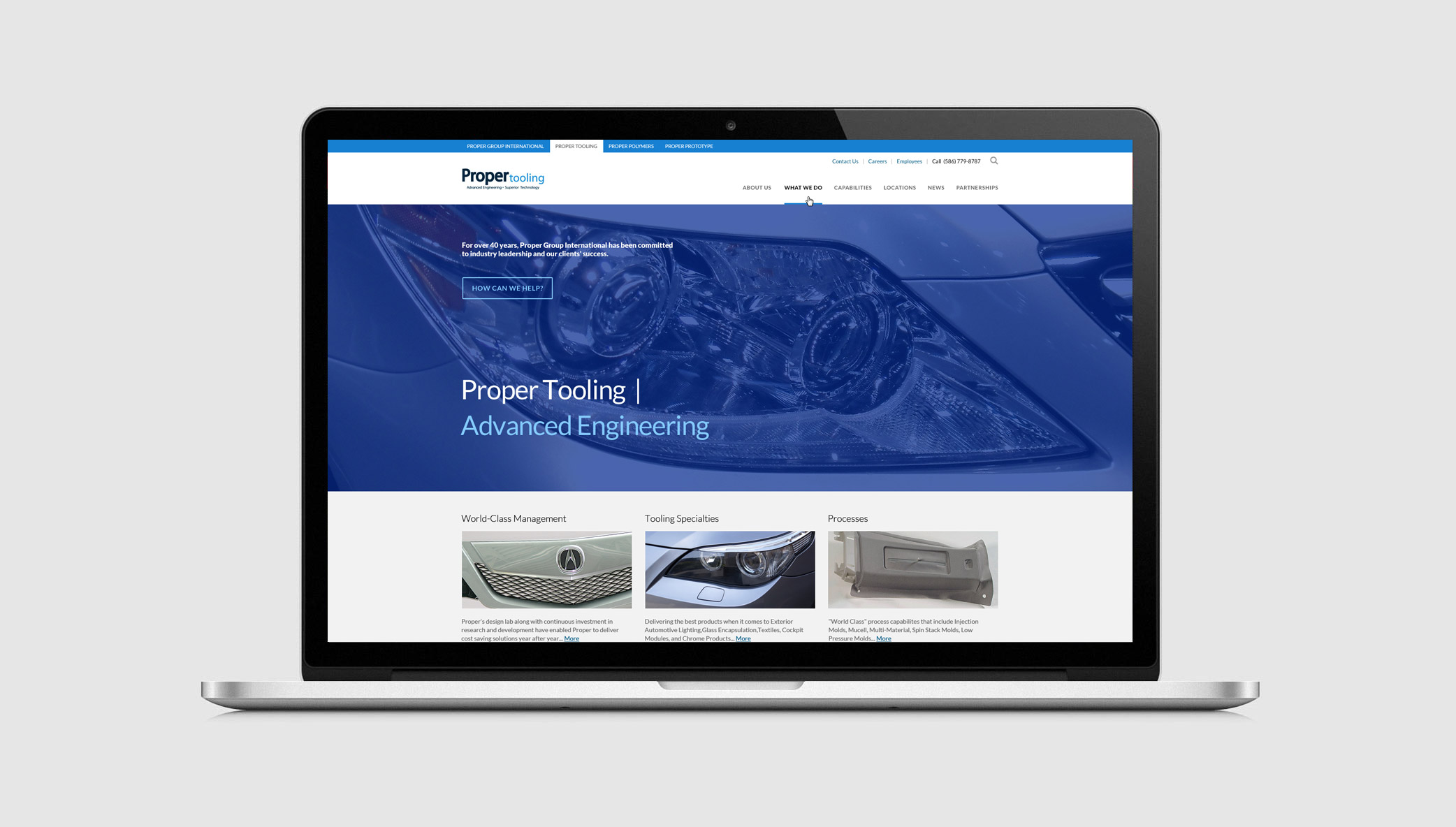 Proper Group International – An Innovative Michigan Automotive Supplier – Works With Stone To Launch Series Of Websites