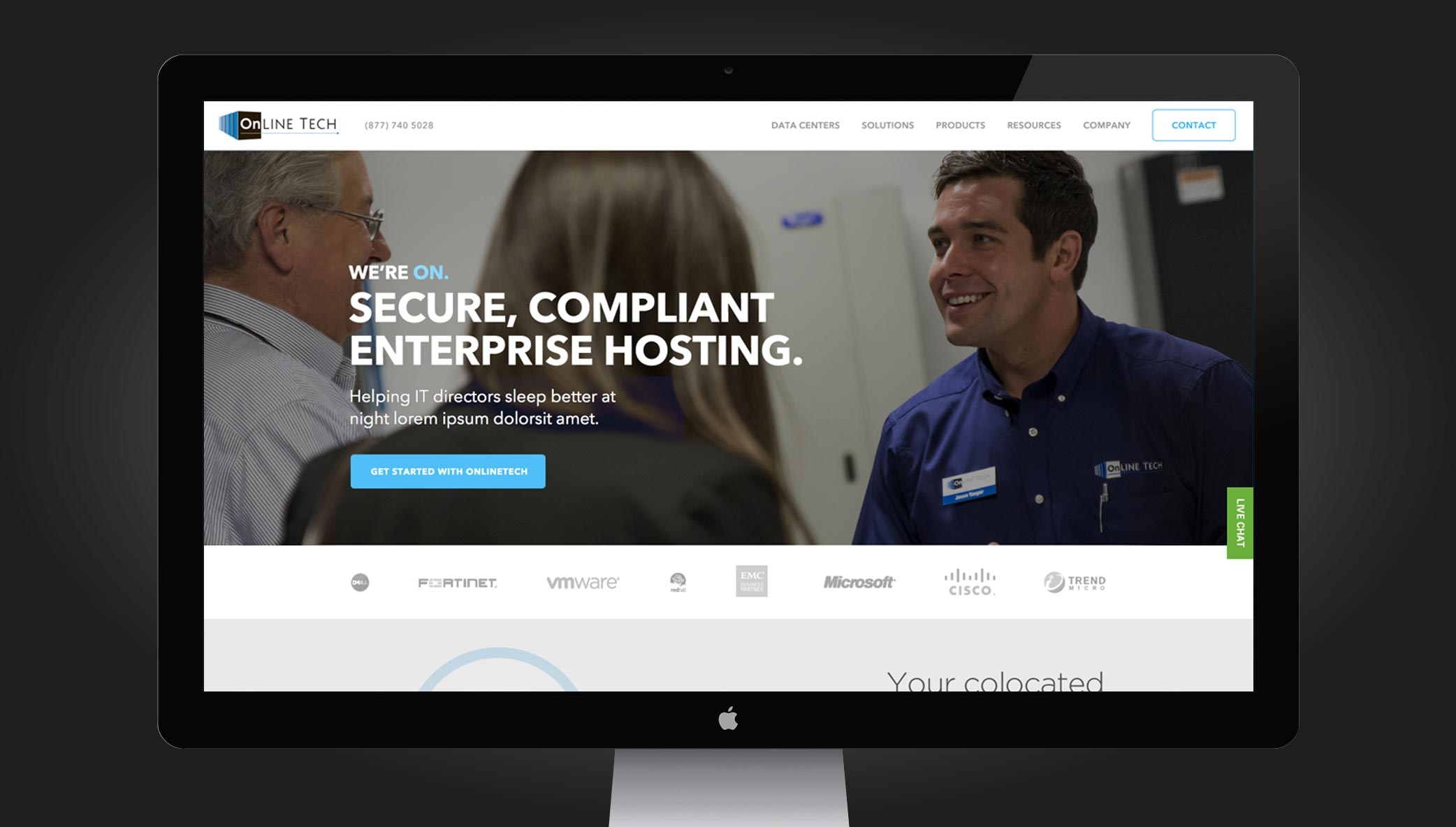 New Web Design for Michigan based OnlineTech